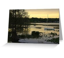 Lazy Lake Greeting Card
