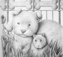 Dog And Hamster by jkartlife