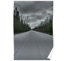 Road from Lake Opeongo, Ontario, Canada Poster