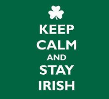 Keep Calm and Stay Irish Womens Fitted T-Shirt