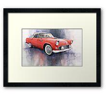 Ford Thunderbird 1955 Red Framed Print