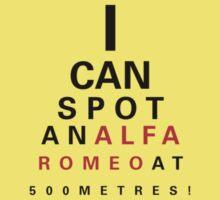 Alfa Romeo Eyechart Kids Tee
