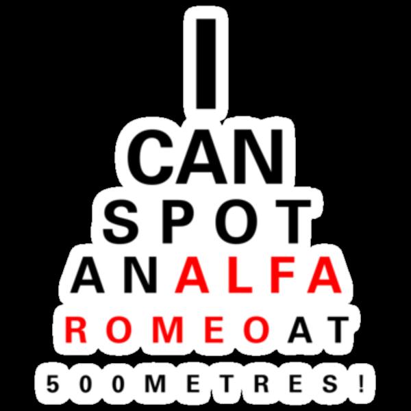 Alfa Romeo Eyechart by aussie105