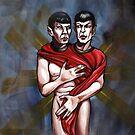 sexy trekkie spock twins by resonanteye