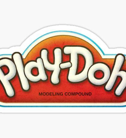 Vintage Play-Doh logo Sticker
