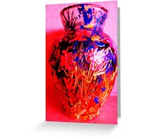 Red Vase with Grafitti Greeting Card