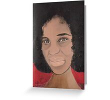 African Woman Acrylic painting Greeting Card