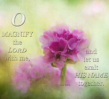 Magnify the Lord-Ps. 34:3 by vigor