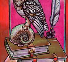 scholarly owl by resonanteye
