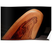 Pyrography: Humpback Whale Calf Poster