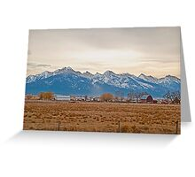 The Mission Mountains from Charlo Greeting Card