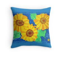 Sunflowers by Debbi  Throw Pillow