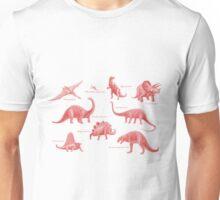 Dinosaur montage - Pink Unisex T-Shirt