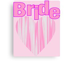 modern girly pink heart team bride bachelorette party Canvas Print