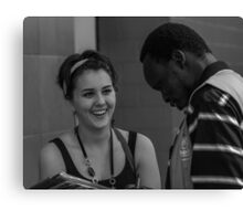 happy to chat #2 Canvas Print