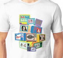 Vintage Hot censored girl on TV Unisex T-Shirt