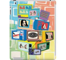 Vintage Hot censored girl on TV iPad Case/Skin