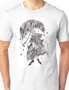 Doodling in the rain Unisex T-Shirt