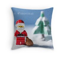Christmas Greeting Card Throw Pillow
