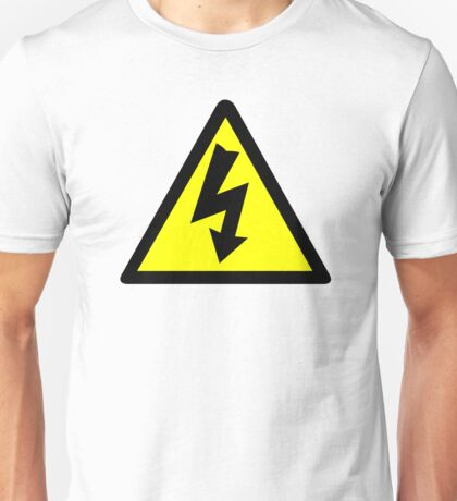 Electrical Warning Symbol Unisex T-Shirt
