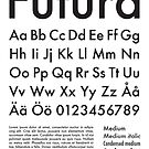 Typography Poster Futura Alphabet by Mattias Olsson