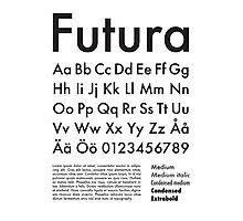 Typography Poster Futura Alphabet Photographic Print
