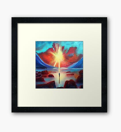 Sun And Solitude Painting Framed Print