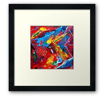 Fiesta Time Abstract Painting Framed Print