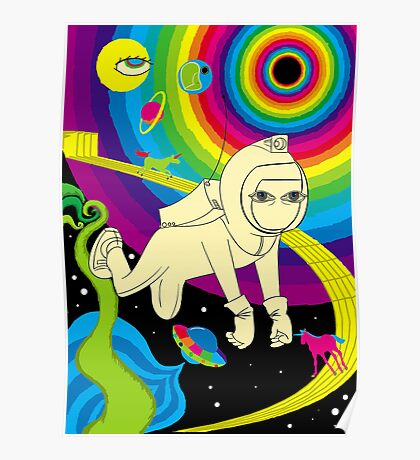 Floating In Space Poster