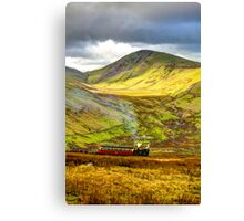 Stunning Snowdon Train Canvas Print