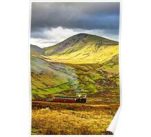 Stunning Snowdon Train Poster