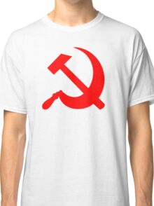Hammer and Sickle - Communist Symbol  Classic T-Shirt