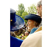 HM Queen Beatrix - Among the people Photographic Print