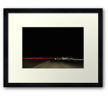 Road abstract 2 Framed Print