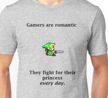 Gamers are romantic Unisex T-Shirt