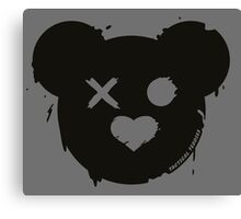Tactical Teddy Logo (Black) Canvas Print