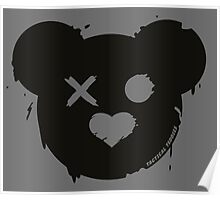 Tactical Teddy Logo (Black) Poster