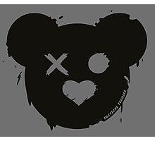Tactical Teddy Logo (Black) Photographic Print