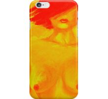 neon girl - painter heather iPhone Case/Skin