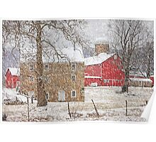 Februaury Snow At Warne's Mill Poster