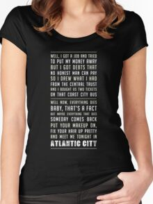 Atlantic City - Springsteen Women's Fitted Scoop T-Shirt