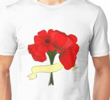 hand drawing bouquet of poppies Unisex T-Shirt