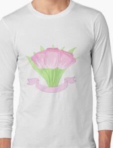 hand drawing tulips Long Sleeve T-Shirt