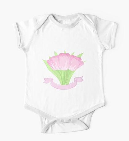 hand drawing tulips One Piece - Short Sleeve