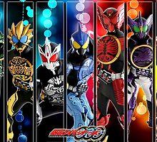 Kamen Rider OOO Combos by Eiji Hino