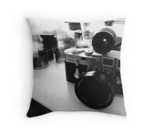 Leica M3 SS - Elmarit-M 21mm Throw Pillow