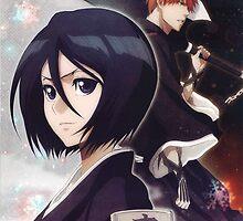Rukia and Ichigo by Eiji Hino