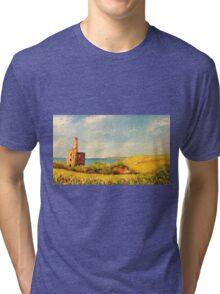 Wheal Friendly engine house Tri-blend T-Shirt