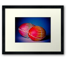 Easter Eggs decorated in a traditional technique Framed Print