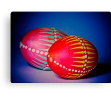 Easter Eggs decorated in a traditional technique Canvas Print